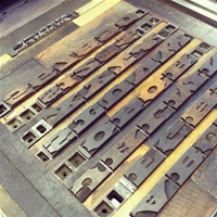 Letterpress Wood Type Set in Cabinet