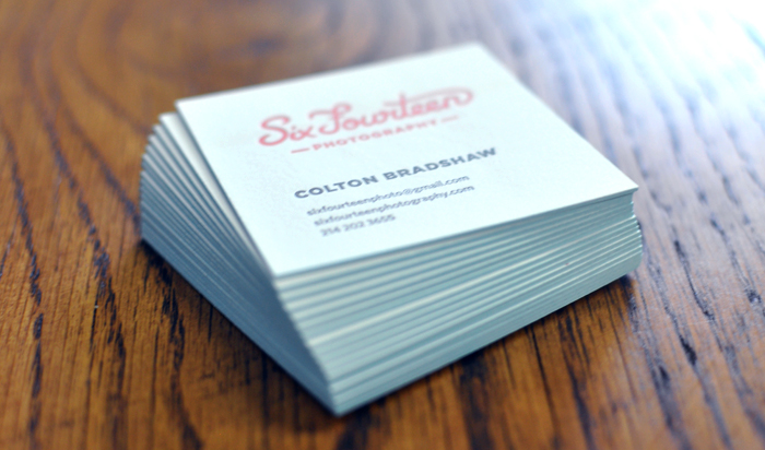 Six fourteen photography business cards gallery elefant press prev next colourmoves Choice Image